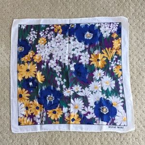 Hanae Mori floral print handkerchief